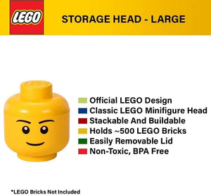 ROOM Copenhagen LEGO Storage Head Large Boy