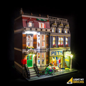 Light My Bricks  Kit di illuminazione a LED per LEGO® 10218 Negozio di animali