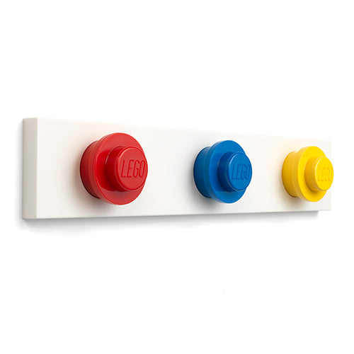 ROOM Copenhagen  LEGO WALL HANGER RACK Mix - Iconic (Red, Blue, Yellow)