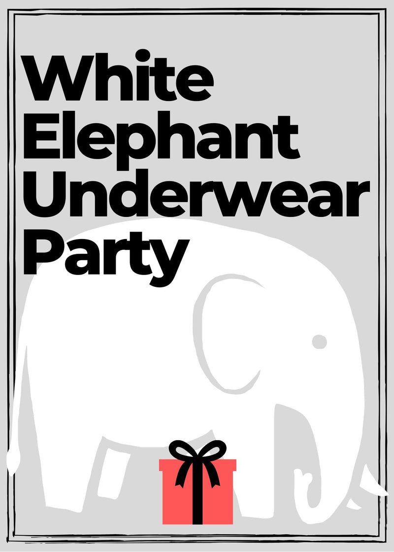 unique white elephant party ideas, underwear party ideas