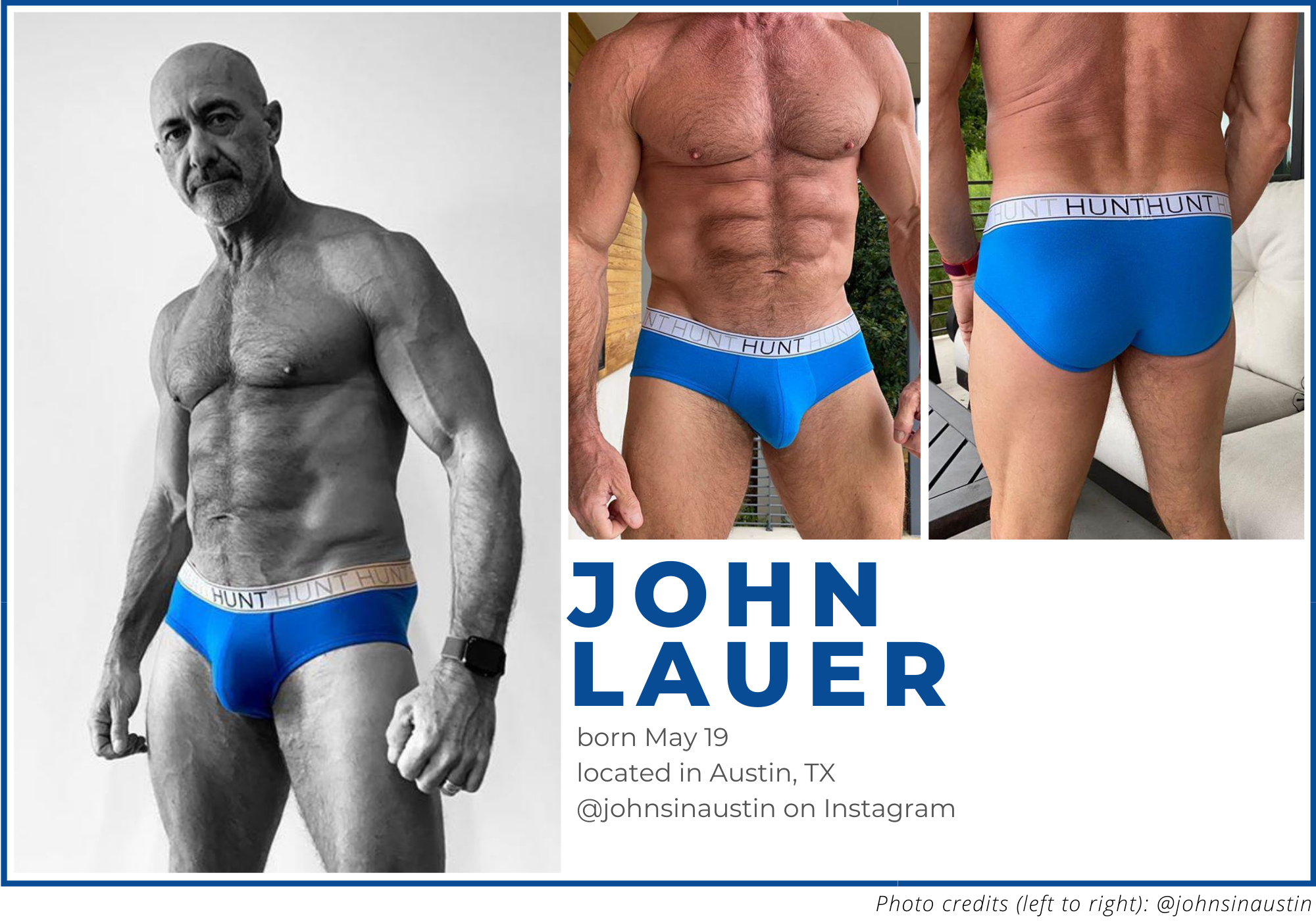 John Lauer, Instagram johnsinaustin, interview with male underwear model
