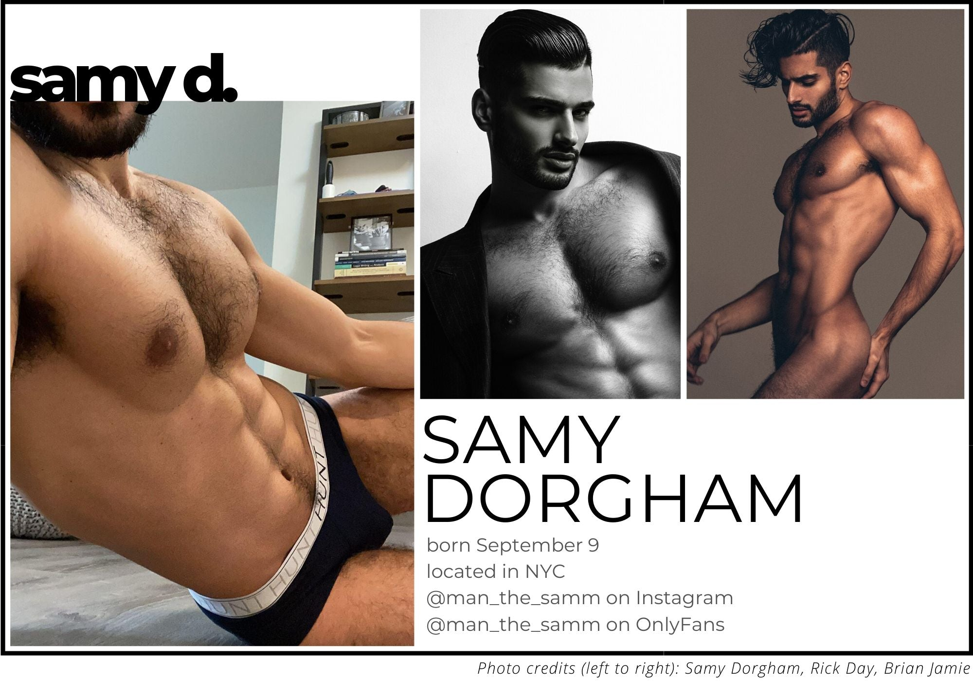 interview with samy dorgham, model and onlyfans performer