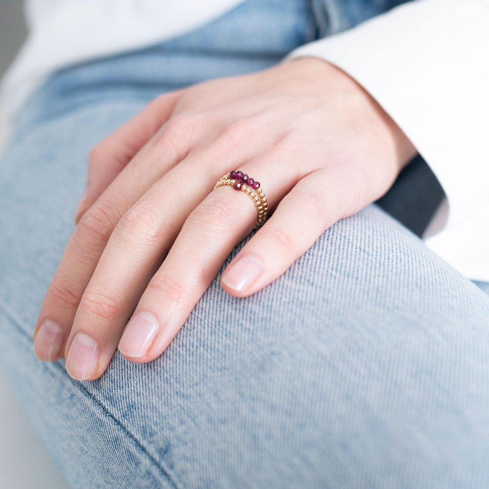 Beauty Garnet Ring - gold-Ringe-A Beautiful Story-jesango - Fair Fashion nachhaltige Mode Fairtrade jesango