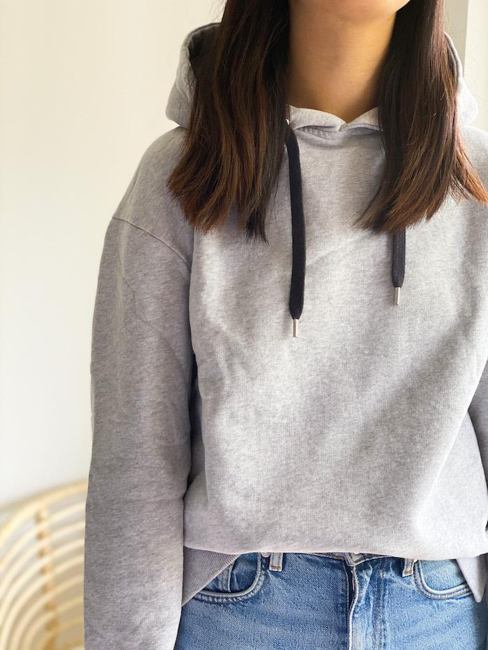 Hoody Oh Ok - grau-Pullover-Another Brand-jesango - Fair Fashion- nachhaltig- faire Mode- Klamotten- Frauen- Damen Klamotten