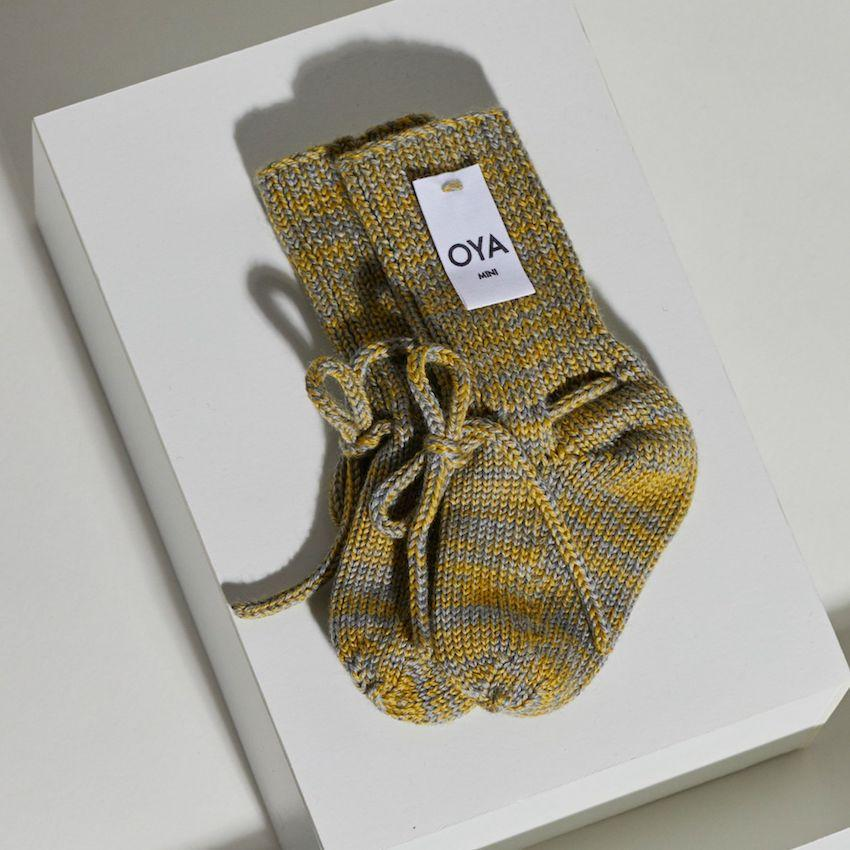 Joy Babysocken - gelb/grau-Babysocken-OYA STUDIO-1 - 6 Monate-jesango - Fair Fashion nachhaltige Mode Fairtrade jesango