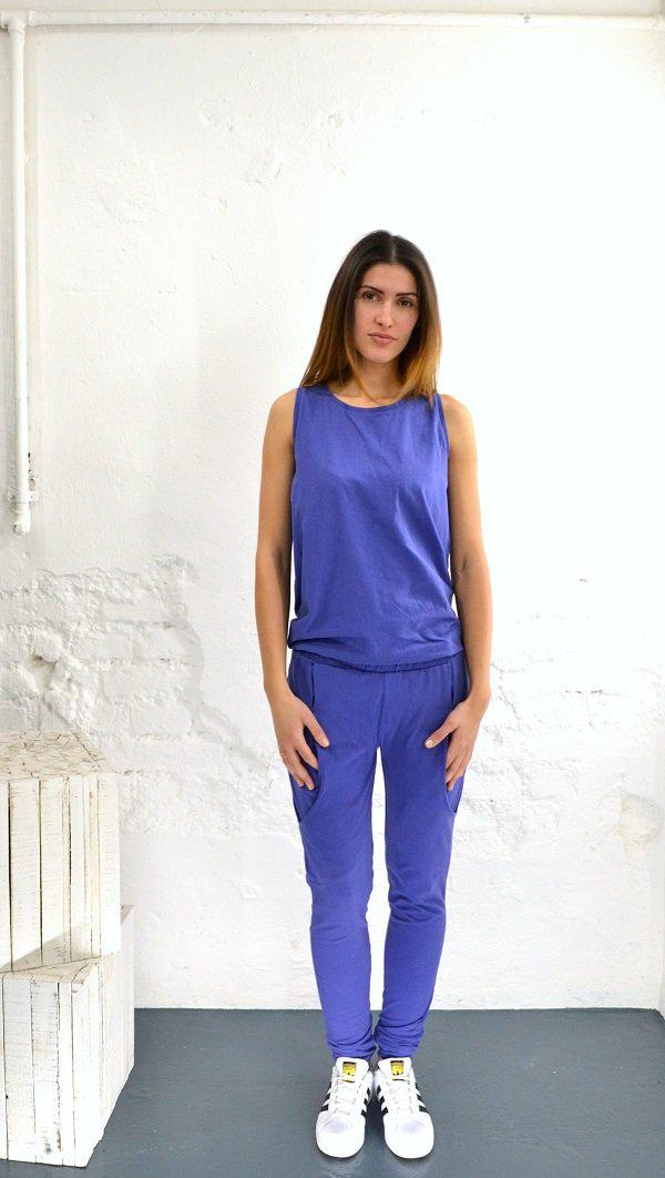 Langer Jumpsuit Tight - blau-Jumpsuits-BOUDI-jesango - Fair Fashion- nachhaltig- faire Mode- Klamotten- Frauen- Damen Klamotten