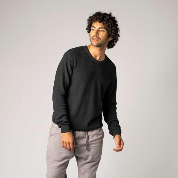 Pullover Man Black-Pullover-ThokkThokk-S-jesango - Fair Fashion nachhaltige Mode Fairtrade jesango