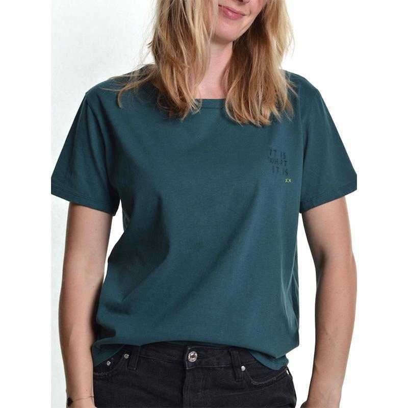 Shirt It is what it is - Grün-T-Shirts-Another Brand-S-jesango - Fair Fashion nachhaltige Mode Fairtrade jesango