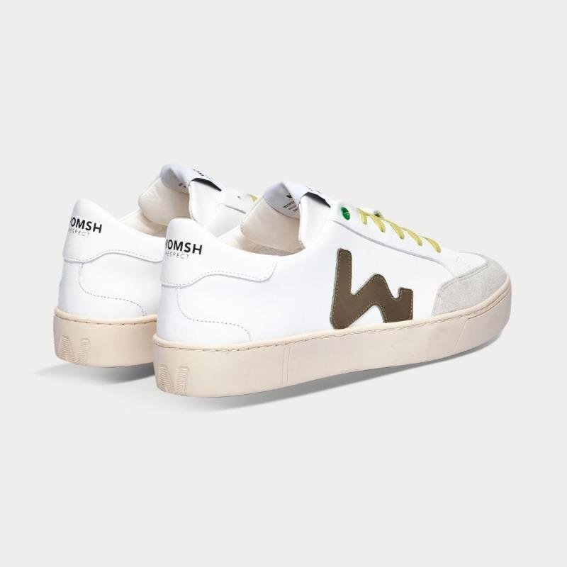 Sneaker Hector White Green Man-Sneakers-WOMSH-41-jesango - Fair Fashion nachhaltige Mode Fairtrade jesango