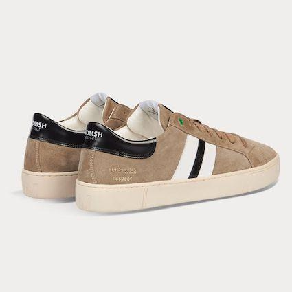 Sneaker KINGSTON braun weiß-Sneakers-WOMSH-43-jesango - Fair Fashion nachhaltige Mode Fairtrade jesango