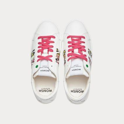 Sneaker KINGSTON weiß rosa gelb-Sneakers-WOMSH-37-jesango - Fair Fashion nachhaltige Mode Fairtrade jesango
