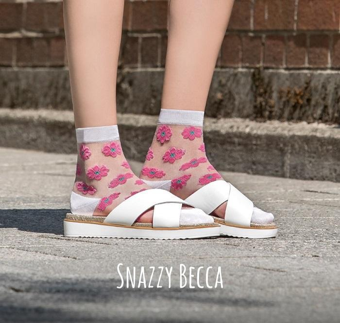 "Söckchen ""Snazzy Becca"" pink-Socken-TOO HOT TO HIDE-jesango - Fair Fashion- nachhaltig- faire Mode- Klamotten- Frauen- Damen Klamotten"
