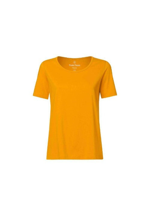 T-shirt golden - gelb-T-Shirts-ThokkThokk-jesango - Fair Fashion- nachhaltig- faire Mode- Klamotten- Frauen- Damen Klamotten