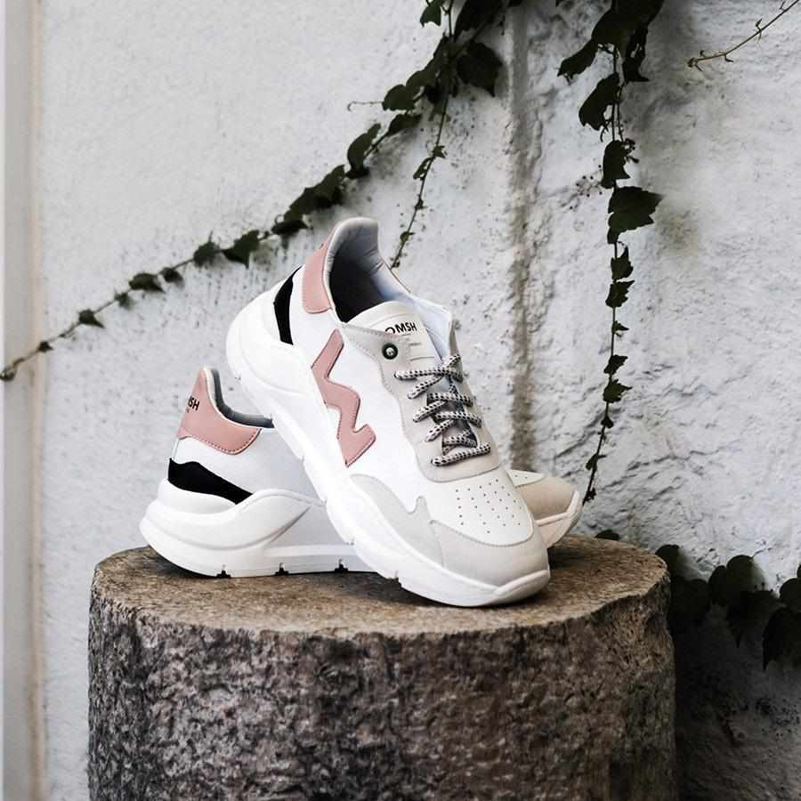 Veganer Sneaker Wave - weiß rosa-Sneakers-WOMSH-37-jesango - Fair Fashion nachhaltige Mode Fairtrade jesango