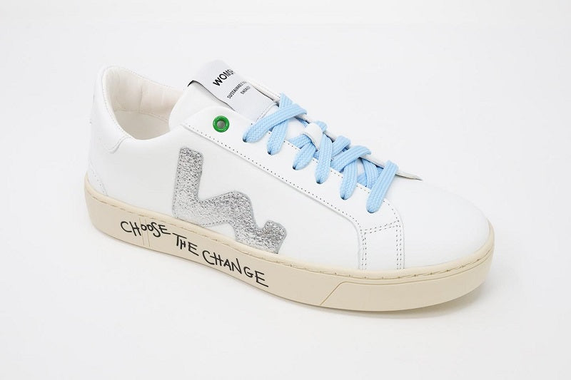 Sneaker Snik White Silver Graphic Woman-Sneakers-WOMSH-37-jesango - Fair Fashion nachhaltige Mode Fairtrade jesango