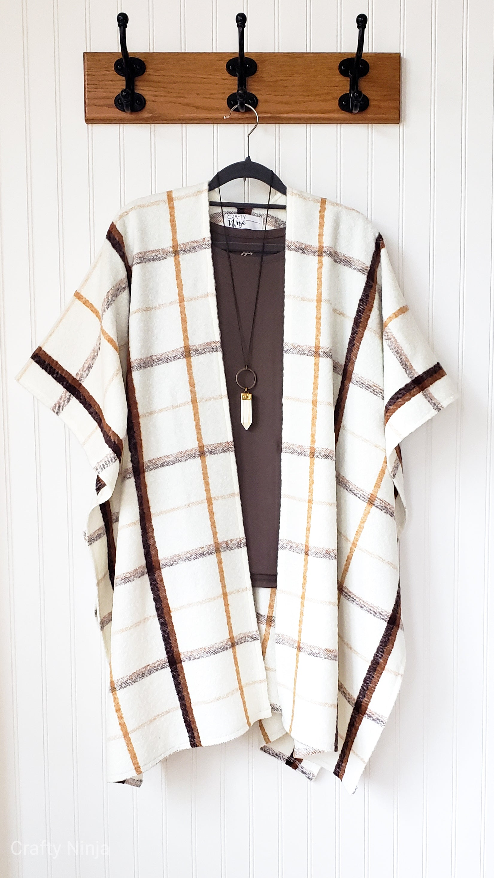 Leigh- Cream and Caramel Plaid Boucle