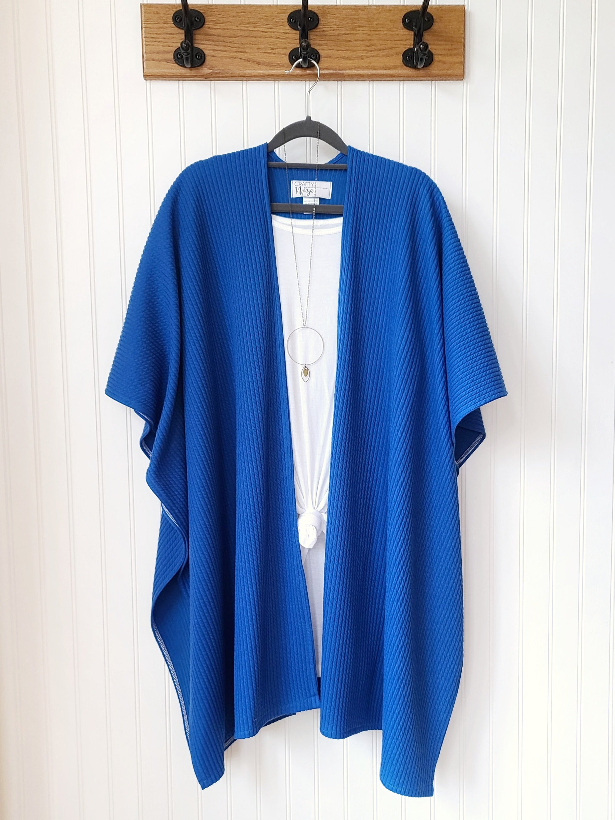 Skye-Blue Sweater Weight Kimono Wrap