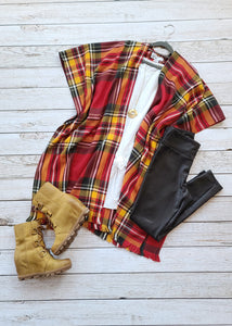 Betsy- Red-Yellow Plaid