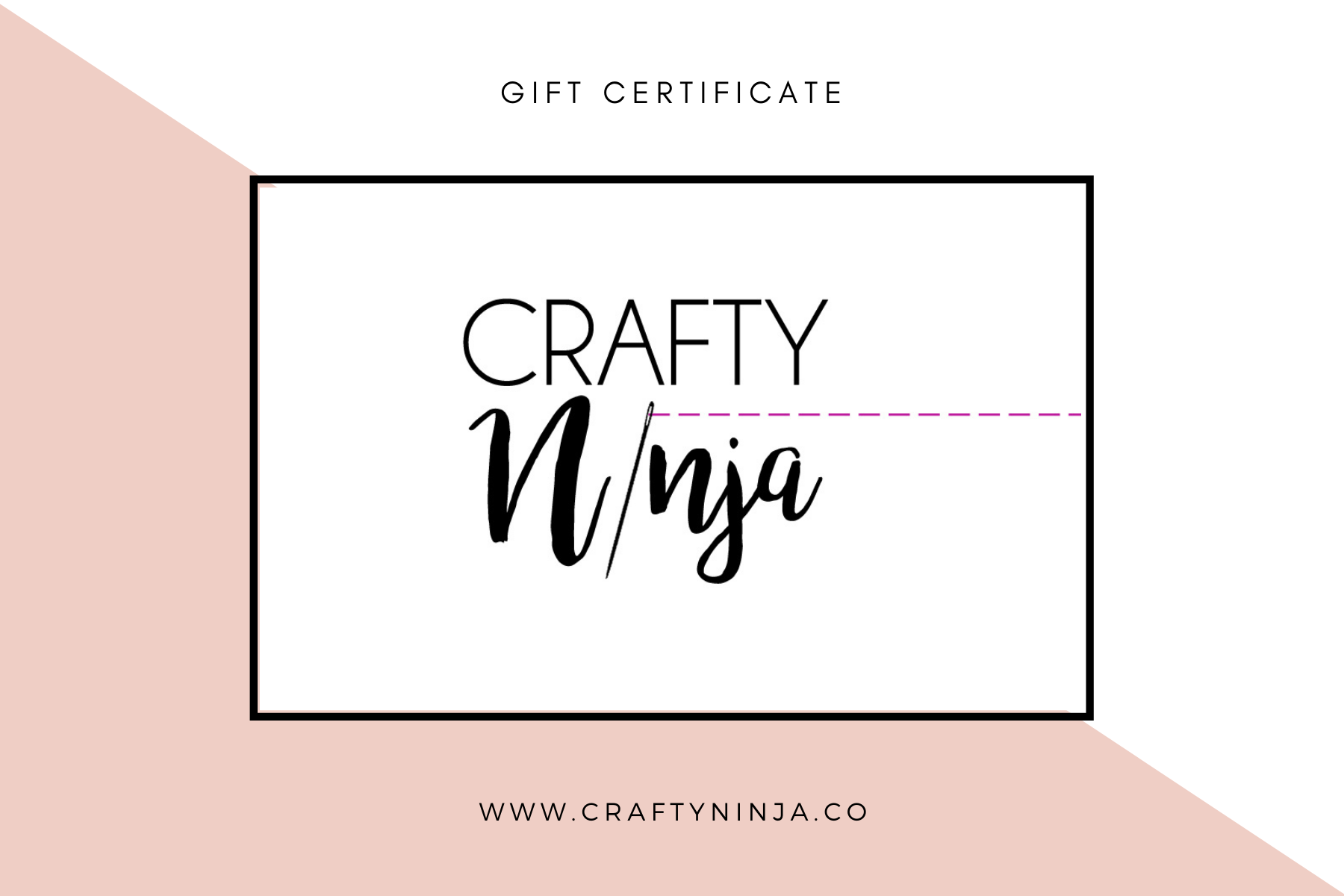 Gift Certificate for CraftyNinja.co