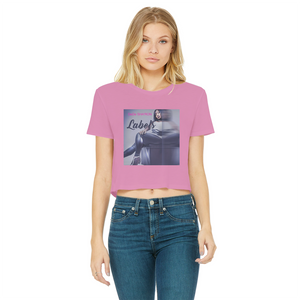 DeDe Sha'Ron - Labels Classic Women's Cropped Raw Edge T-Shirt