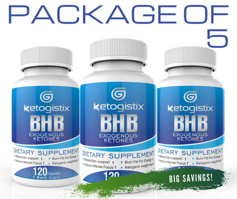 Ketogistix BHB Exogenous Ketones 5-Pack Bundle