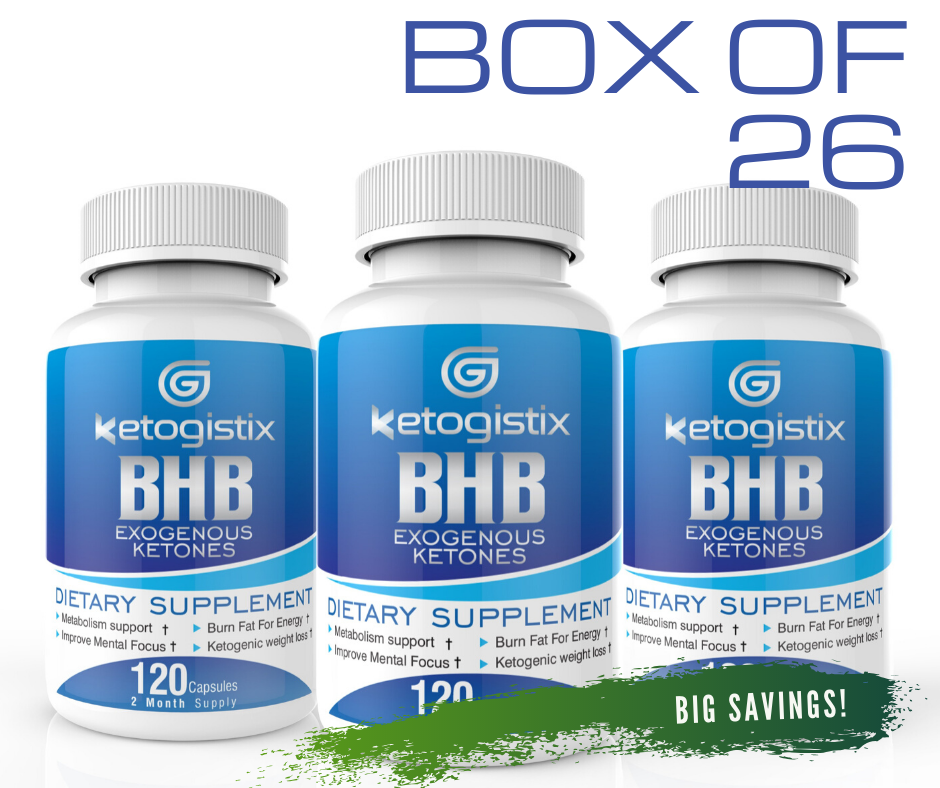 Ketogistix BHB Exogenous Ketones Box of 26