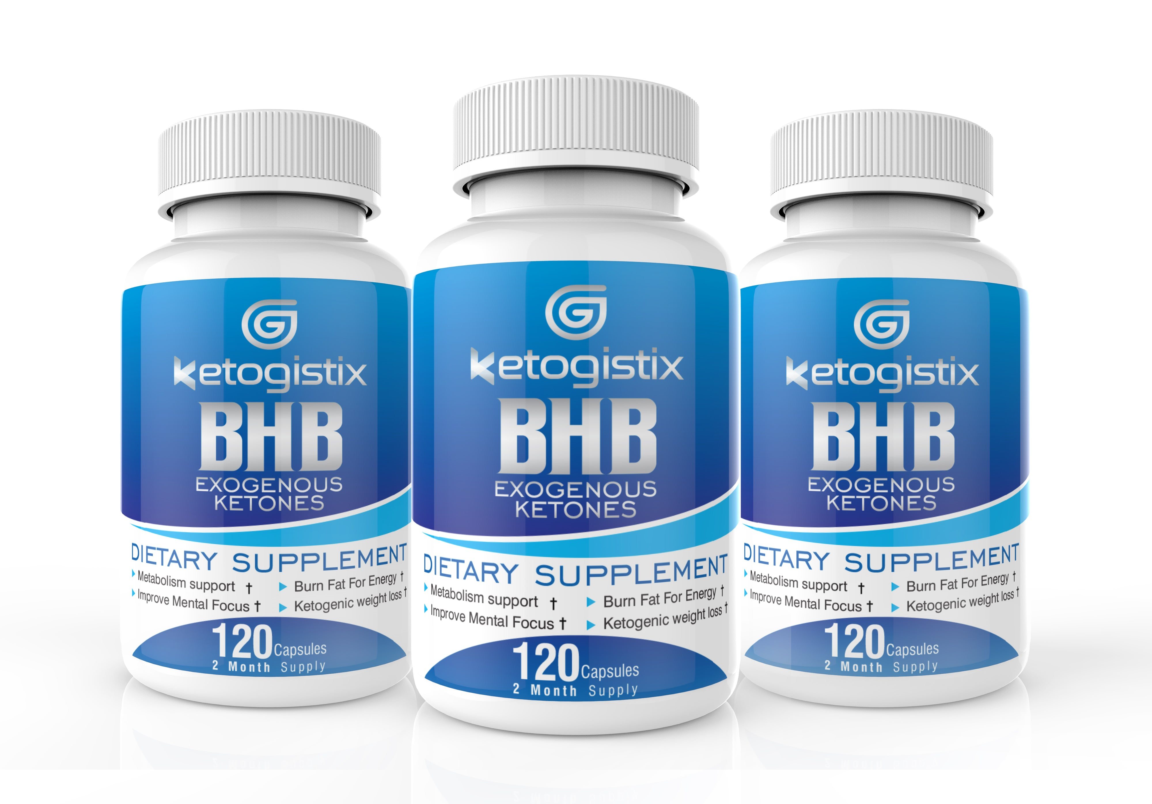 Ketogistix BHB Exogenous Ketones 3-Pack Bundle