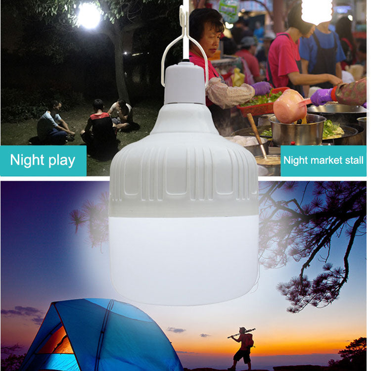 Outdoor Bulb USB Rechargeable LED Emergency Lights Portable Tent Lamp Battery Lantern BBQ Camping light for Patio/Porch/Garden