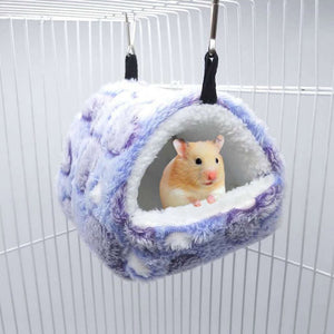 Cute Small Pet Bird Parrot Hamster Soft Comfortable Nest Plush Hanging Hammock Nest House Sleeping Bed Warm Nest Pet Products