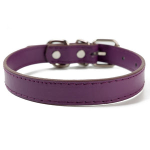 Dog Harness PU Leather High Quality Dog Collar Adjustable 7 Color Comfortable Pet Dog Accessories