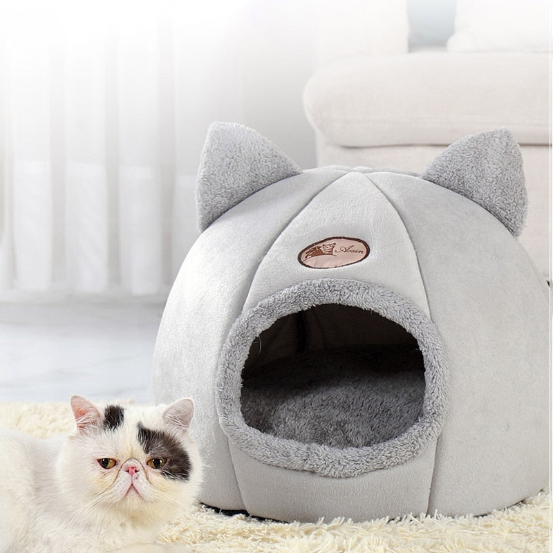 Pet bed cave house for cat litter mat products for pets home accessories panier pour chat cats cozy sleeping beds cama de gato