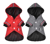Small Dog Clothes Winter Warm Pet Dogs Coat Jacket Puppy Cat Outdoor Clothing Hoodies For Yorkshire Teddy Outfit XS-XL