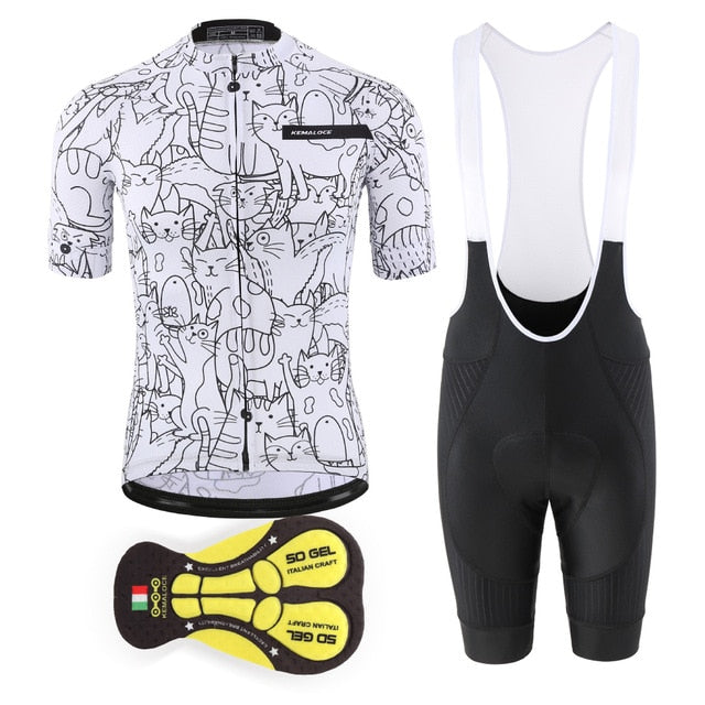 Pro Cycling Jersey Set Mountain Bike Uniforms Summer Cycling Wear Bicycle Clothing Men Cycling Clothing MTB Bike Shirts