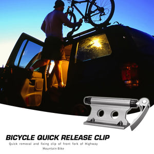 Bike Bicycle Car Roof Rack Carrier Quick Release Alloy Fork Lock Mount Racks Stable Block Truck Mount for MTB Road Bike