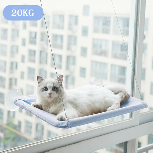 Cat Hammock Pet Hanging Sleeping Beds Cat Resting Seat Perch Window Hammock Mount Pet Comfortable Cat Pet Bed Bearing 20kg