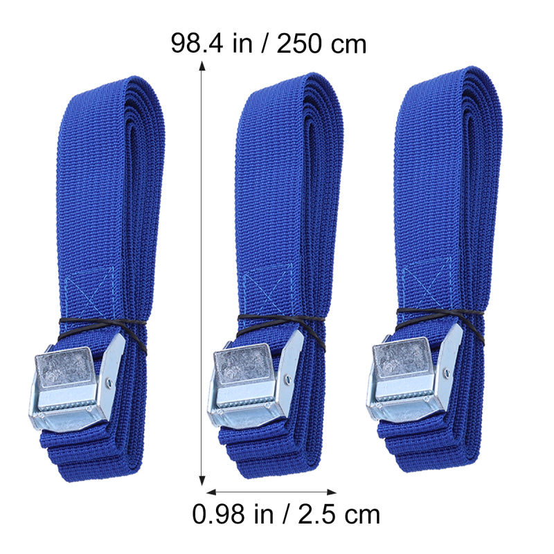 6PCS Polyester Quick Release Lashing with Buckle Tying Straps for Cargo Tie Down Car Roof Rack Luggage Kayak Carrier Moving Cano