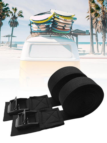2pcs/set Tie Down Strap Padded Cam Lock Buckle Cargo Rack Belt For Kayak Surfboard And Motorcycle Car Bus Bicycle Bike