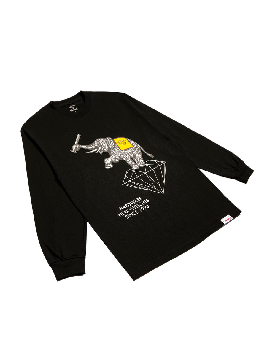 DMND HEAVYWEIGHTS LS TEE BLK