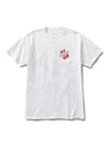 DMND ROSE WREATH TEE WHT