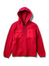DMND BRILLAINT QTR ZIP HOODIES RED