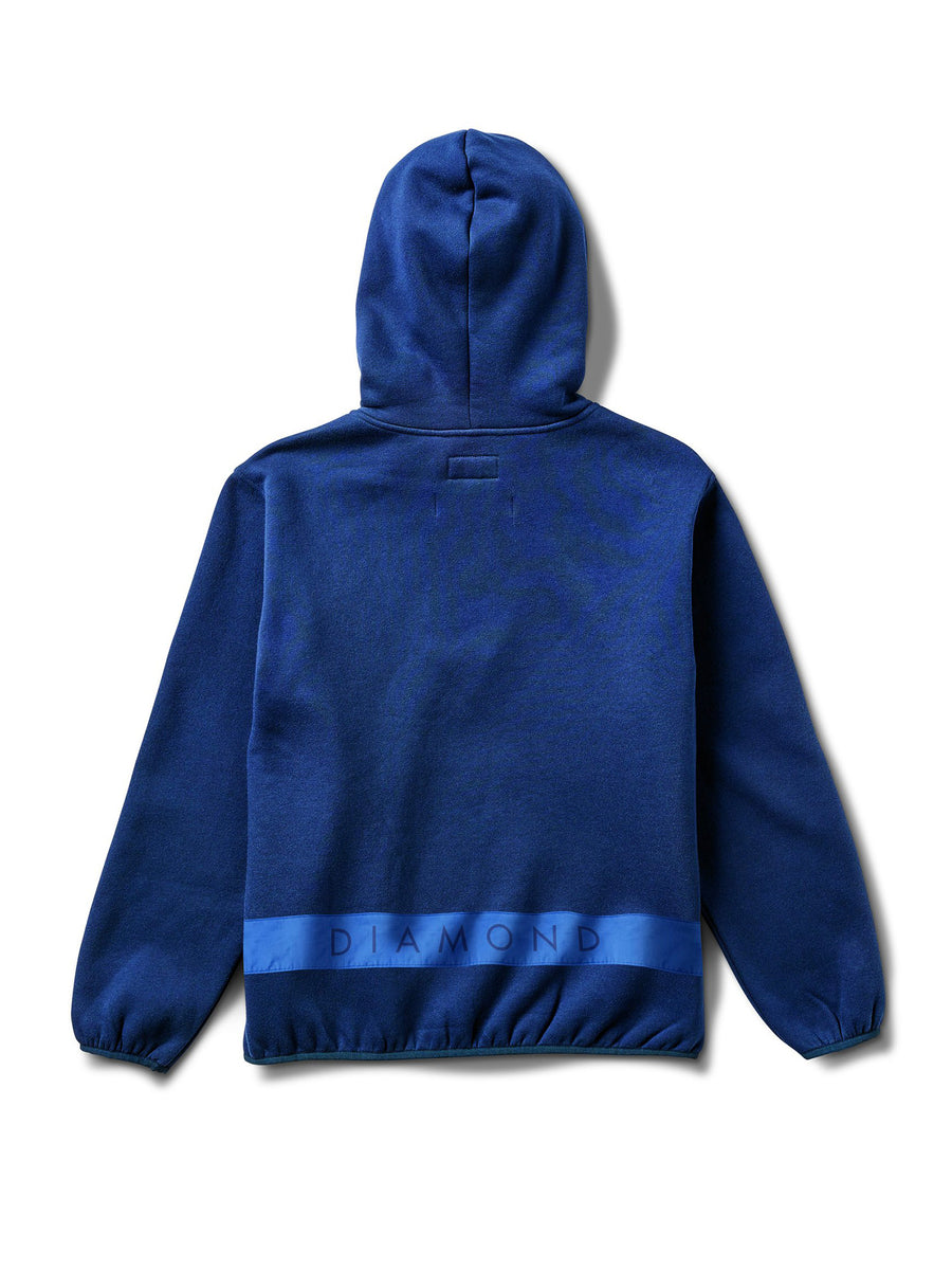 DMND BRILLAINT QTR ZIP HOODIES NVY