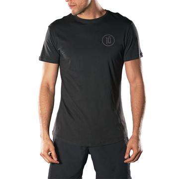 Brian Ortega in black 10 tee front view