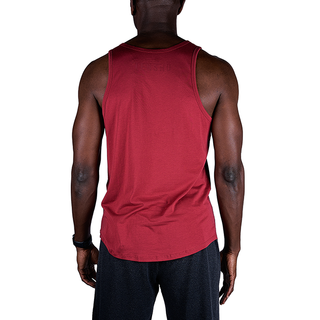 Tensho men's boxing tank top in oxblood