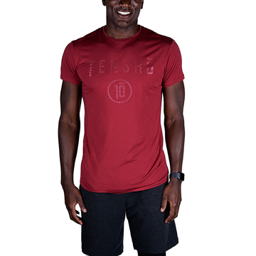 Tensho men's boxing tee in oxblood