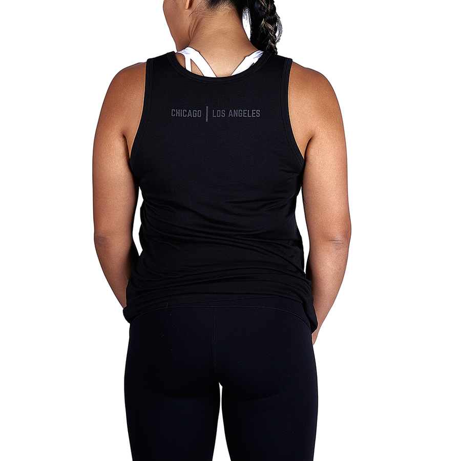 Tensho Women's Tensho Tank Premium supima/micro-modal blend provides comfort and style for the street but also the breathability needed for training. Tonal, stretchable screening. Slightly scalloped hem.  Sizing: True to size.