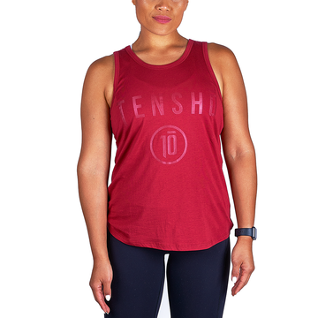 Tensho women's boxing tank top in oxblood
