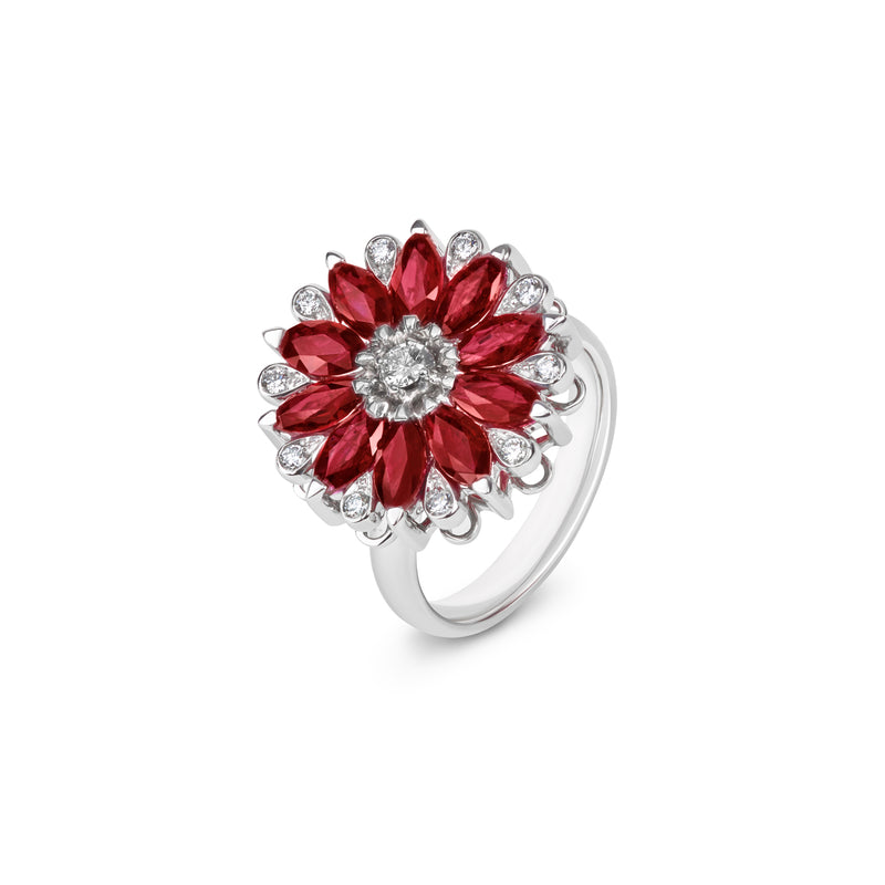 Amore Dalia Ruby Spinning Ring