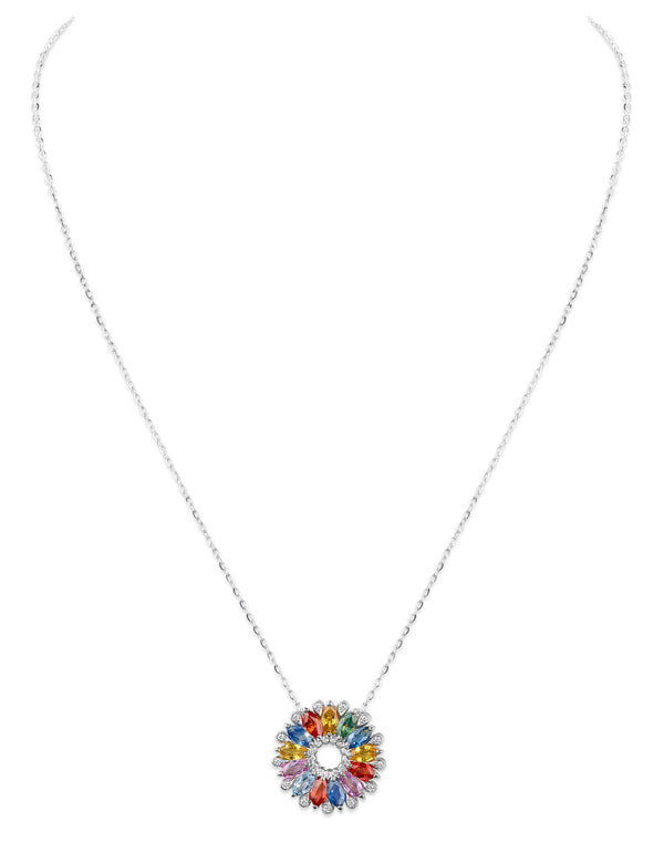 Amore Dalia Medium Multicoloured Sapphire Pendant