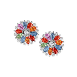 Amore Dalia Multicoloured Sapphire Earrings