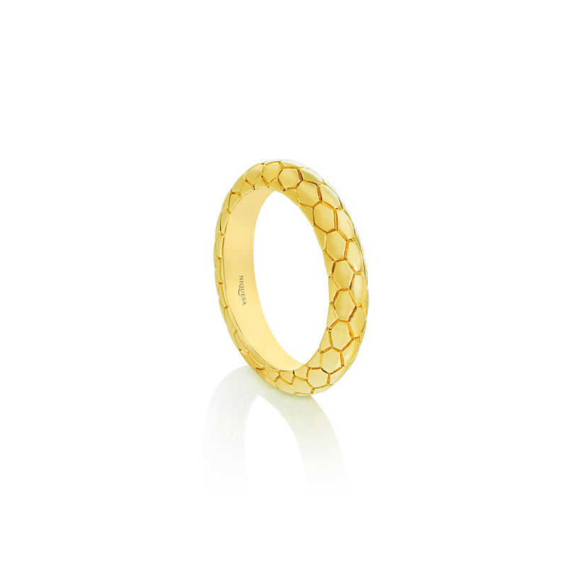 Ophidian Yellow Gold Band Ring